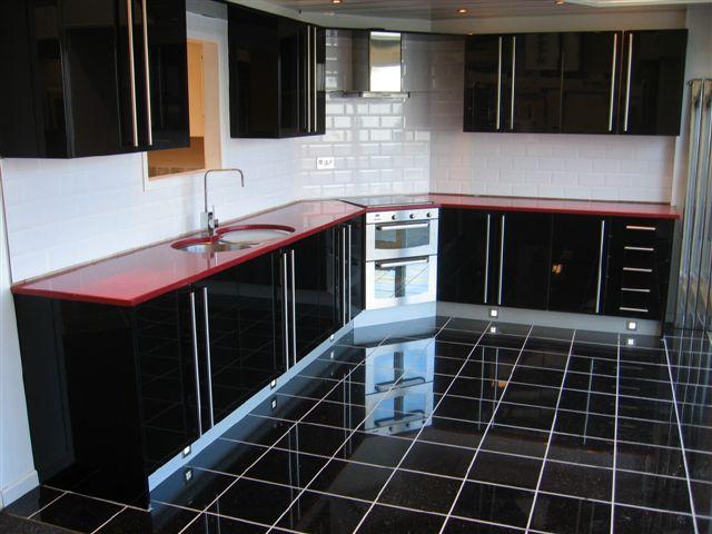 Red Starlight Kitchen Blyth Marble