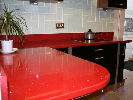 Red Starlight Worktop